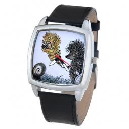 фото Часы наручные Mitya Veselkov «Ежик с листочком»