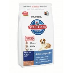 фото Корм сухой для пожилых собак Hill's Science Plan Mature Adult 7+ с ягненком и рисом. Вес упаковки: 3 кг