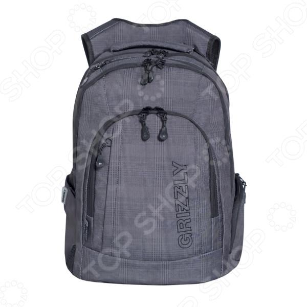 Рюкзак молодежный Grizzly RU-701-1/2Рюкзаки<br>Удобный и практичный аксессуар для тех, кто ценит удобство и качетсво! Рюкзак молодежный Grizzly RU-701-1 2 практичный городской рюкзак, который идеально подойдет, как для школьников, так и для студентов и простых офисных работников. Рюкзак оформлен двумя вместительными отделениями, куда можно без труда сложить стандартную папку, блокноты, тетради и документы. Внутри предусмотрен отсек для безопасного хранения ноутбука. Объемный карман на молнии на передней стенке и компактный карман на молнии идеально подходят для органайзера, где основные документы, аксессуары и телефон находятся в пределах досягаемости. Мягкая основа рюкзака выполнена из высококачественного полиэстерового материала, который придает изделию дополнительную прочность и практичность.  Другие особенности данной модели городского рюкзака от бренда Grizzly:  анатомическая спинка с системой вентиляции обеспечивает прекрасное прохождение воздуха и надежное прилегание к спине;  мягкие вентилируемые лямки позволяют равномерно распределить нагрузку на спину;  для более надежной фиксации предусмотрено нагрудное крепление, которые можно самостоятельно регулировать;  мягкая укрепленная ручка позволяет носить рюкзак в руках, что очень удобно в общественном транспорте;  карман быстрого доступа в верхней части рюкзака и на задней стенке;  выполнен из прочного и высококачественного материала, который отличается своей прекрасной устойчивостью к истиранию и воздействию атмосферных изменений.  Продуманные детали для вашего удобства! Укрепленные лямки обеспечивают долговечность рюкзака, так как он легко выдерживает даже значительный вес груза. Боковые карманы из сетки предназначены для удобного хранения бутылок с водой. Во внутренний карман на молнии можно сложить важные и ценные мелочи. Изделие отличается не только своими прекрасными эксплуатационными характеристиками, но и оригинальным современным дизайном. Такой рюкзак можно взять с собой не только на учебу или работу, 