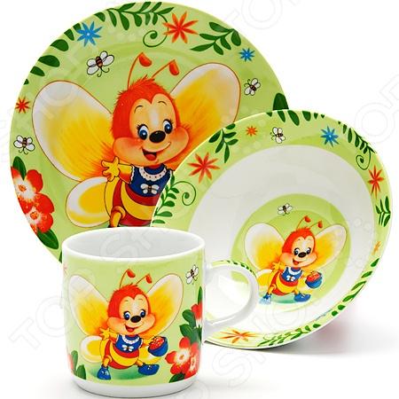 Набор посуды для детей Loraine «Пчелка» посуда для детей lock