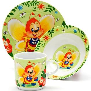 Купить Набор посуды для детей Loraine «Пчелка»