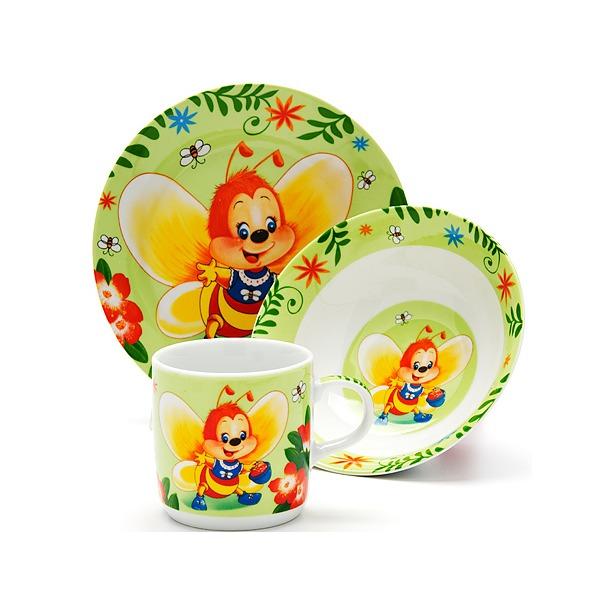 фото Набор посуды для детей Loraine «Пчелка»