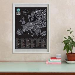 Купить Карта настоящего гурмана Gourmet Европа