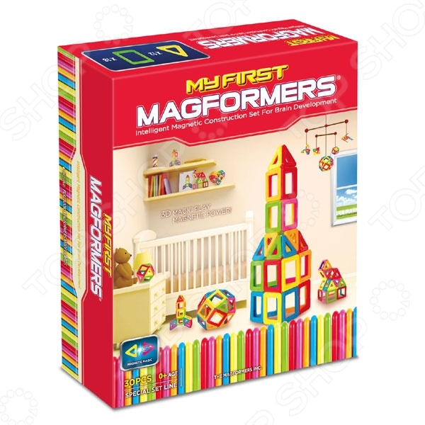 Конструктор магнитный Magformers My First Magformers 30