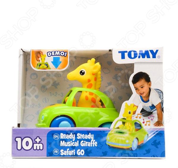 Каталка Tomy «Веселый жираф-водитель» каталка детская tomy tomy каталка веселый щенок
