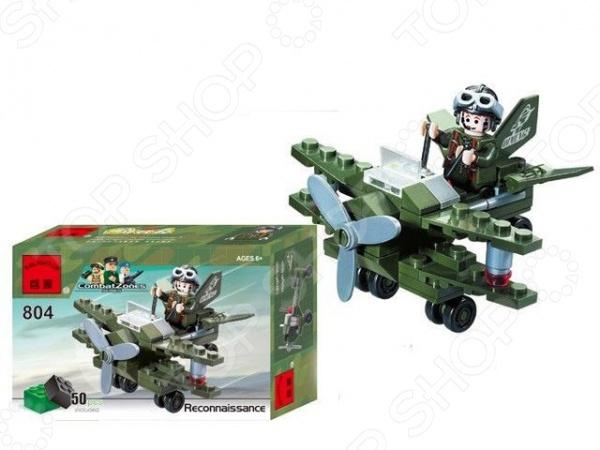 Конструктор игровой Brick Reconnaissance «Военный самолет» yookidoo игровой набор пилот и его самолет