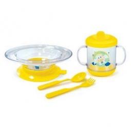 Купить Набор посуды СКАЗКА: тарелочка на присоске, ложка, кружка 225 мл, вилочка