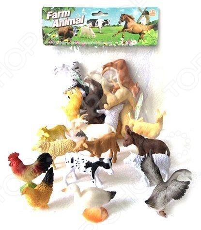 Набор фигурок домашних животных Shantou Gepai Farm animal A012Игрушечные животные<br>Набор Shantou Gepai Farm animal A012 это замечательный подарок для вашего малыша. В комплекте вы найдете 12 фигурок, среди которых корова, осел, овечка, курочка и гусь. Для увеличения сходства с прототипами, зверюшки выполнены с высокой степенью детализации, а значит прекрасно подойдут ребенку для изучения строения тел этих домашних животных и птиц. Данный набор украсит любую детскую комнату и принесет радость и веселье во время игр. Игрушки изготовлены из прочного пластика, который абсолютно безвреден для ребенка. Набор фигурок Shantou Gepai Farm animal A012 способствует развитию зрительной координации, воображения и мелкой моторики рук. Кроме того, тренируется наблюдательность, образное восприятие и логическое мышление.<br>