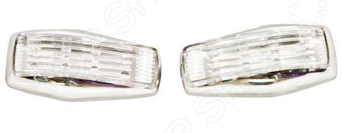Повторитель поворота Glipart GT-50540 представляет собой устройство, предназначенное для дублирования сигналов поворотников. Это не только залог безопасности при маневрах на дороге, но и оригинальный элемент тюнинга для авто. Повторитель снабжен 8 светодиодными лампочками; крепится к внешней поверхности машины и подключается к общей системе сигнализирования. В комплекте две штуки.