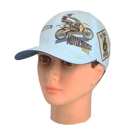 Купить Бейсболка для мальчика Shapochka Motocross ЯВ117274. Цвет: светло-голубой
