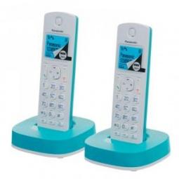 фото Радиотелефон Panasonic KX TGC 312. Цвет: голубой, белый