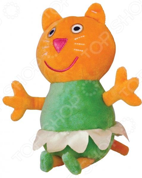 Мягкая игрушка Peppa «Котенок Кэнди-балерина» 25084Мягкие игрушки<br>Мягкая игрушка Peppa Котенок Кэнди-балерина милая игрушка из анимационного сериала для детей, которая подарит вашему ребенку массу удовольствия за игрой. Изделие выполнено из высококачественного гипоаллергенного материала с мягкой набивкой. С игрушкой можно как играть днем, так и спать ночью, так как не деформируется и не теряет внешний вид. Уход: стирка ручная или в стиральных машинах любого типа с мало пенообразующим порошком при температуре не выше 30 С.<br>