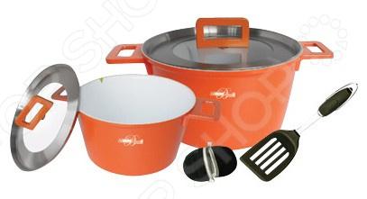 Набор кухонной посуды BartonSteel BS-6807. В ассортиментеНаборы посуды для готовки<br>Товар продается в ассортименте. Цвет и вид товара при комплектации заказа зависит от наличия товарного ассортимента на складе. Набор кухонной посуды BartonSteel BS-6807 это объемные кастрюли с высококачественным покрытием, прекрасно подходят для пассировки и тушения, а главное варки наваристых супов. Благодаря специальному керамическому покрытию, в них можно приготовить разнообразные блюда из мяса, рыбы, птицы и овощей практически не используя масло. Интересный дизайн посуды отлично впишется в вашу кухню. Крышки сделаны из термостойкого ударопрочного стекла, вы с легкостью будете отслеживать степень приготовления блюда без необходимости открываться крышку и терять тепло. Не стоит переживать и из-за запотевания крышки, ведь каждая из них оборудована клапаном для выхода пара. После использования вы можете очистить посуду как классическим способом, так и с помощью посудомоечной машины.<br>