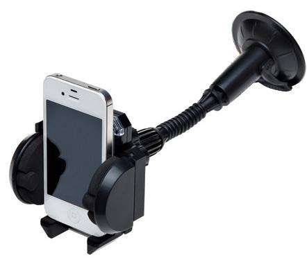 Держатель для телефона Airline AMS-U-04Держатели. Коврики на панель<br>Вести машину, держа одной рукой мобильный телефон, а другой руль, не только крайне неудобно, но и весьма опасно, всегда есть риск не справиться и потерять управление. Держатель для телефона Airline AMS-U-04 представляет собой удобное и весьма практичное приспособление для удержания гаджета во время поездки. С ним вы можете общаться по телефону с друзьями, родными и близкими, не опасаясь за свою безопасность на дороге. Держатель выполнен из высокопрочного пластика и рассчитан на мобильные телефоны и навигаторы шириною не более 11 см. Устройство снабжено специальным фиксатором и предназначено для крепления к лобовому стеклу автомобиля.<br>