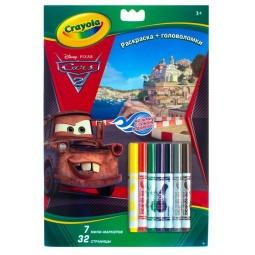 фото Раскраска с головоломками Crayola 04-1401 «Тачки»