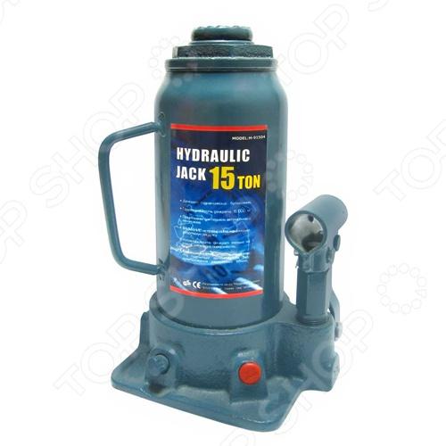 Домкрат гидравлический бутылочный с клапаном Megapower M-91504 домкрат белак бак 10044 8т