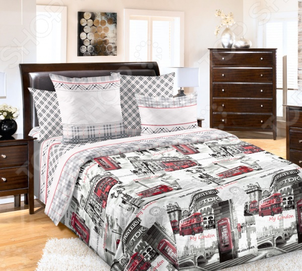 цена Комплект постельного белья Королевское Искушение «Лондон». Ткань: перкаль онлайн в 2017 году