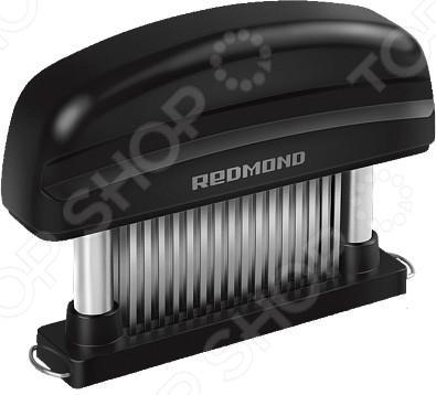 Тендерайзер Redmond RAM-MT1Молотки. Орехоколы<br>Тендерайзер Redmond RAM-MT1 прекрасно подходит для приготовления стейков и размягчения всех видов мяса. Оригинальное и функциональное приспособление выполнено из высококачественного пластика с металлическими зубьями из нержавеющей стали. В отличие от обработки продуктов молотком, подготовка стейков с помощью этого уникального инструмента происходит без шума и лишних брызг. Тендерайзер оснащен 48 лезвиями из высококачественной стали, поэтому он не разрушает структуру мяса и его внешний вид, а лишь соединительные ткани в мясе, таким образом делая его более нежным и сочным. Мясо, обработанное данным приспособлением, быстрее маринуется, а специи глубже проникают в его структуру, поэтому готовое блюдо будет иметь великолепный аромат и вкусовые качества. Данная модель также отличается оригинальной разборной конструкцией, за которой очень просто и удобно ухаживать.<br>