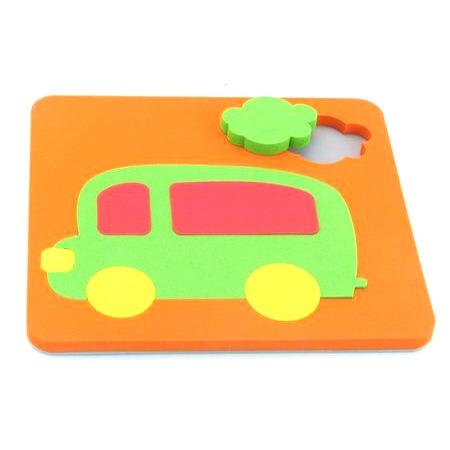 Купить Игрушка-сортер развивающая El Basco «Рамка-вкладыш. Автобус»