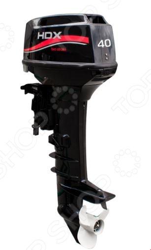 Лодочный мотор 2-х тактный HDX T 40 JFWL NewРыбалка. Охота<br>Лодочный мотор 2-х тактный HDX T 40 JFWL New предназначен для совместного использования с моторными лодками и разработан с учетом всех природных и климатических условий России. Модель обеспечивает продолжительную бесперебойную работу и может использоваться в воде повышенной степени загрязненности. Помимо этого, мотор также не боится перепадов температуры и может работать даже при достаточно низких ее показателях до -7 градусов . Модель снабжена двумя цилиндрами, функцией электрозапуска и системой дистанционного управления. В качестве смазочной системы используется смесь бензина и масла в соотношении 50:1.<br>