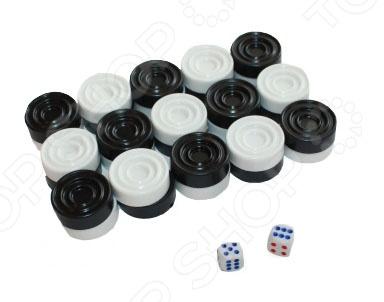 Нарды, 30 фишек 2 кубика представляют собой прекрасное дополнение к имеющейся у вас доске для нард. Развлечению, которое многими любимо и популярно за свою простоту и азартный игровой процесс. Выполненные из качественного пластика элементы набора соединили в себе классический внешний вид и удобство использования. Во время игры в нарды человек развивает логику, внимание, тактическое мышление, устный счет и способность быстро принимать важные решения.