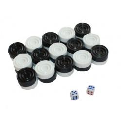 Купить Нарды, 30 фишек+2 кубика