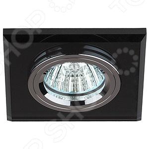 Светильник светодиодный встраиваемый Эра DK8 CH/BK