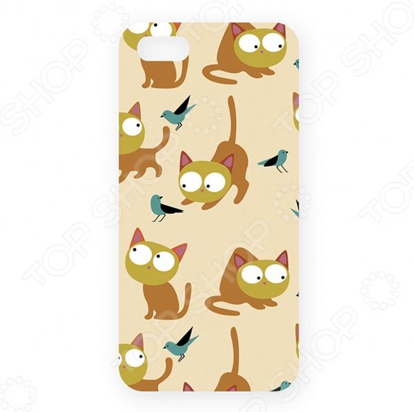 Чехол для iPhone 5 Mitya Veselkov «Рыжие кошки» для кошки