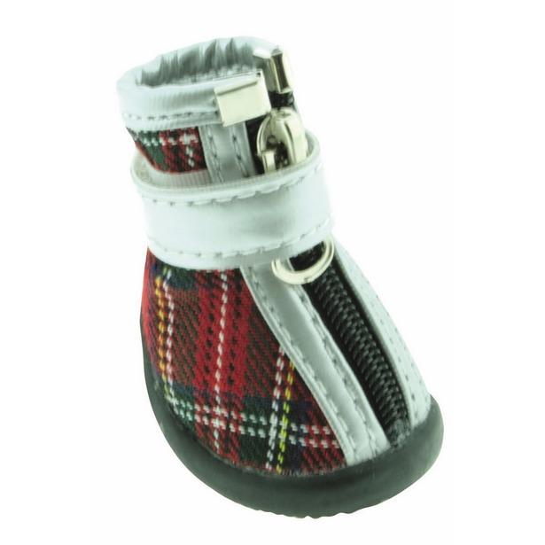 фото Обувь для собак DEZZIE «Шотландка». Размер: 2 (6,2х3,8 см)