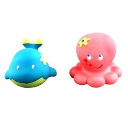 фото Набор игрушек для ванны Жирафики «Кит и осьминожка»