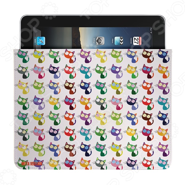 Чехол для iPad Mitya Veselkov «Цветные кошки» чехлол для ipad iphone mitya veselkov чехол для ipad райский сад ip 08