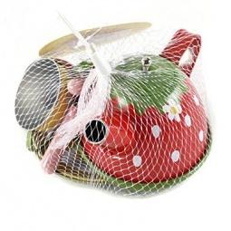 фото Игровой набор для девочки Shantou Gepai «Чайный сервиз. Клубничка»