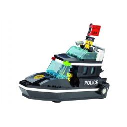 фото Конструктор игровой для ребенка Brick «Катер полицейский» 130