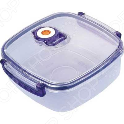 Контейнер для хранения продуктов с клапаном Bekker квадратный посуда для хранения продуктов bekker 2 5 л вк 5105