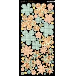 фото Набор стикеров Graphic45 Flowers Secret Garden