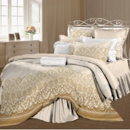 фото Комплект постельного белья Романтика «Николь». 1,5-спальный