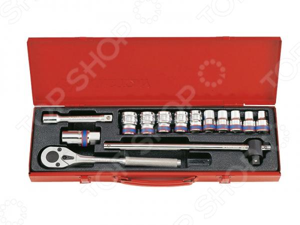 Набор с торцевыми головками King Tony KT-4012MRНаборы инструментов<br>Набор торцевых головок King Tony KT-4012MR будет просто незаменим во время проведения монтажных и ремонтных работ различной степени сложности. Для удобного хранения и транспортировки комплекта предусмотрен специальный кейс. Комплект содержит следующие элементы:  Головки 12-гранные: 10 мм, 11 мм, 12 мм, 13 мм, 14 мм, 17 мм, 19 мм, 21 мм, 22 мм, 24 мм  Удлинитель 5  Вороток скользящий 1 2 300 мм  Ключ трещотка 1 2 с 32 зубцами 250 мм  Головка для свечей зажигания 21 мм  Металлический футляр Все инструменты выполнены из высококачественных сортов стали, что гарантирует долгий срок службы и большой запас прочности.<br>