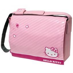 """фото Месседжер-портфель для ноутбуков Cellular Line Hello Kitty. Цвет: розовый. Размер: 17"""""""