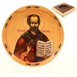 Купить Тарелка декоративная Elan Gallery «Николай Чудотворец» 502759
