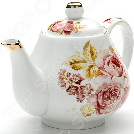 Чайник заварочный Loraine LR-24560 «Розы» масленка loraine lr 22444 розы в ассортименте