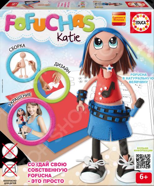 Набор для создания куклы Educa «Фофуча Кати»Изготовление кукол<br>Набор для создания куклы Educa Фофуча Кати отличный набор для детского творчества, который станет чудесным подарком для вашего любимого чада. Немного терпения и фантазии и длинноногая куколка Фофуча готова. Не удивимся, если в дальнейшем она станет самой любимой игрушкой для вашей доченьки, ведь малышка создала ее своими ручками. В игровой набор входит все необходимое: сборное тело куклы из пластика, 5 листов ЭВА, скотч, схемы, картонные детали, самоклеящиеся глаза, рот и инструкция. Рекомендовано для детей в возрасте от 6-ти лет.<br>