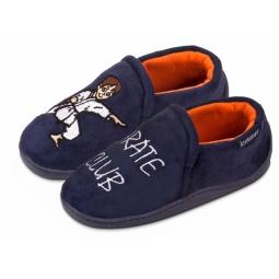 Купить Мокасины детские домашние Isotoner 99246. Цвет: синий. Рисунок: карате