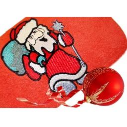 фото Полотенце подарочное с вышивкой TAC Santa claus. Цвет: красный