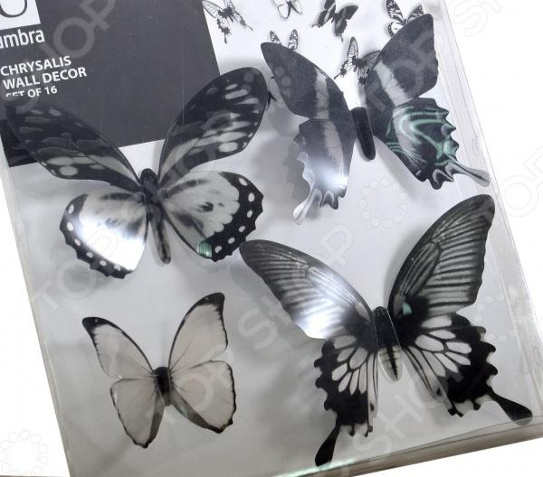 Декор для стен Umbra Chrysalis Black «Тропические бабочки» umbra декор для стен chrysalis 15 элементов