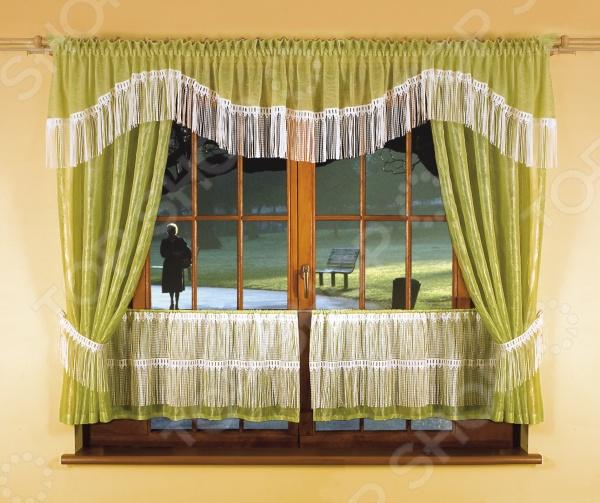 Комплект штор для кухни Wisan 5874 цена 2017