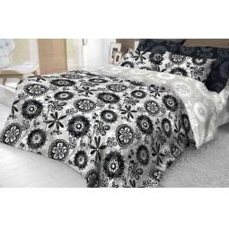 фото Комплект постельного белья Волшебная ночь «Флёр». 2-спальный. Размер простыни: 200х220 см. Размер наволочки: 50х70 см — 2 шт. Простыня на резинке: да