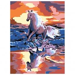 фото Набор для живописи на холсте Белоснежка «Стремительный бег» 021-СЕ