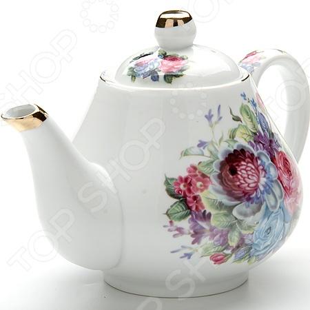 Чайник заварочный Loraine LR-24563Чайники заварочные<br>Чайник заварочный Loraine LR-24563 изготовлен из высококачественной керамики. Посуда из данного материла позволяет максимально сохранить полезные свойства и вкусовые качества воды. Украшенные милым рисунком стенки чайника, придают ему эстетичности на столе, а элементы с отделкой золотистой эмалью добавляют изысканности. Заварите крепкий, ароматный чай в представленной модели, и вы получите заряд бодрости, позитива и энергии на весь день! Классическая форма и универсальная цветовая гамма изделия позволят наслаждаться любимым напитком в атмосфере еще большей гармонии, эмоциональной наполненности и добавят нотку романтичности. Внимание! Не применять абразивные моющие средства. Не использовать в микроволновой печи.<br>