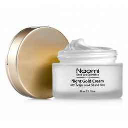 фото Крем для лица ночной Naomi Night gold cream with Grape seed oil and Aloe