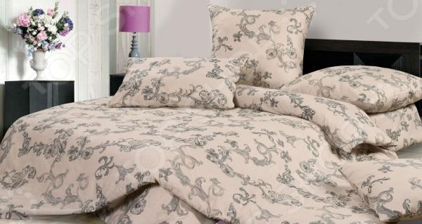 Комплект постельного белья Ecotex «Рошель». 1,5-спальный1,5-спальные<br>Комфортный и здоровый сон не в последнюю очередь зависит от того на каком постельном белье вы спите. Слишком жесткое белье, пусть даже из натурального материала, может оставлять на чувствительной коже покраснения и раздражения. На такой постели часто образуются катышки, которые в конец портят внешний вид белья и ваше настроение. Комплект постельного белья Ecotex Рошель удивительный постельный набор, который понравится тем, кто ценит комфорт, красоту и качество. Выполненные из натурального хлопкового материала сатина, который отличается приятной шелковистостью и текстурой, изделия станут идеальным решением для здорового и комфортного сна. Благодаря тому, что сатин изготавливается из крученой хлопковой нити двойного плетения, он сочетает в себе прочность, легкость и удивительную износоустойчивость. Этот материал относится к категории высококачественных тканей, которые идеально подходят для повседневного использования. Сатиновое постельное белье не электризуется и не скользит по кровати, а также сохраняет свою первоначальную форму даже после многочисленных стирок. Такой комплект привлекает своим роскошным внешним видом, высоким качеством и прекрасными характеристиками. Другой особенностью комплекта постельного белья Ecotex Рошель является его современный дизайн, который придется по вкусу даже самым взыскательным ценителям стиля, красоты и практичности. При нанесении рисунка используются только высококачественные нетоксичные краски, которые отличаются высокой стойкостью. Приятная глазу цветовая гамма белья и элегантный рисунок отлично сочетаются между собой, благодаря чему комплект идеально вписывается в интерьер любой спальни и прекрасно его дополняет. Такой комплект станет прекрасным подарком вашим близким, ведь вашим подарком станут не только высококачественные изделия, но и спокойный, здоровый сон, яркие и цветные сны и приятные эмоции!<br>
